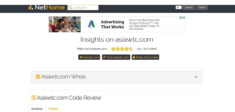 Asiawtc.com Rating